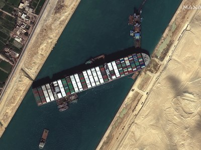 Medium suez canal blocked by ever given march 27 2021